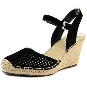 Franco Sarto Shoes - Franco Sarto merona black wedge espadrille sandal